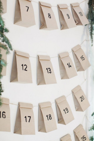 advent calendar count down days till lds General conference. Each bag ...