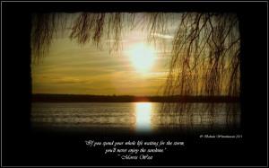 "... Storm, You'll Never Enjoy The Sunshine "" - Morris West ~ Sad Quote"