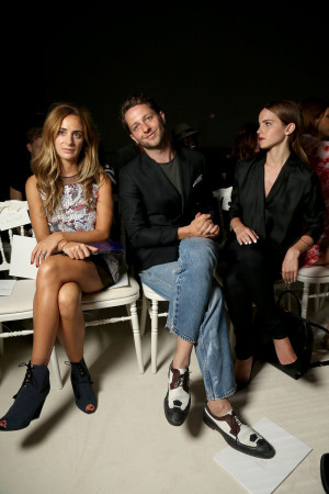 Derek Blasberg And Emma Watson At Paris Haute Couture Fashion Week ...