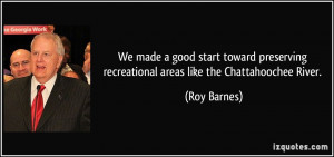 We made a good start toward preserving recreational areas like the ...