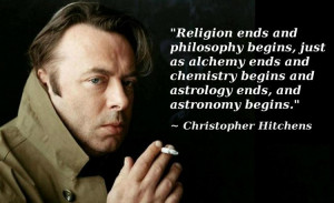 Philosophy begins where religion ends, just as by analogy chemistry ...