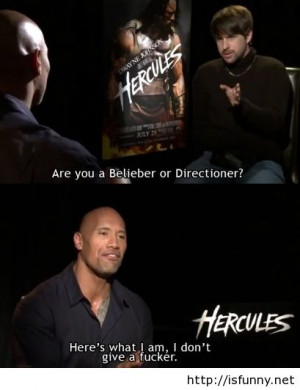 The rock is my hero now Hercules quote funny picture