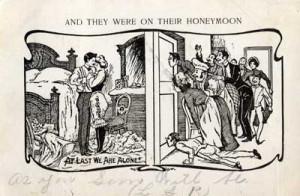 Funny Honeymoon Nosy Neighbors - Collection of Susan Breslow Sardone.