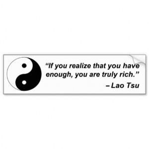 Taoism Quotes Lao tsu quote bumper sticker