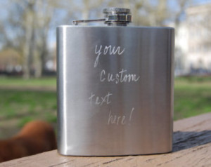 Customized Hand-Engraved Flasks-- -Personalized with a style that ...