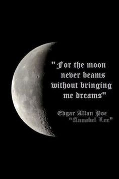 quarter moon quote more inspiration quotes annabel lee edgar allan poe ...