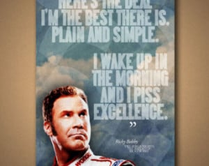 TALLADEGA NIGHTS Ricky Bobby Quote Poster ...