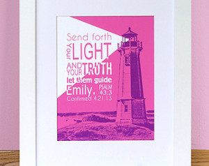 verse PRINT for Teen Boy or Girl - Choice of Colors - Confirmation ...
