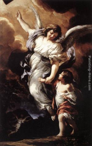 Pietro da Cortona - Pietro da Cortona The Guardian Angel Painting