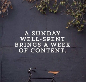 sunday well-spent brings a week of content. #word #truth