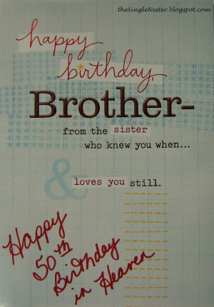 Birthday Brother In Heaven Quotes Quotesgram