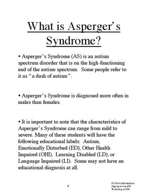 What is Asperger's Syndrome
