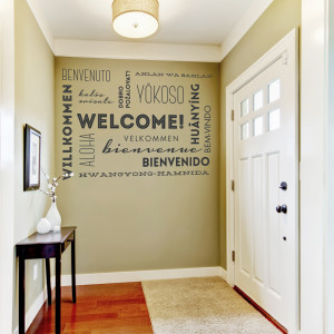 Our New Home Quotes Welcome wall words wall quote