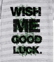 Wish me good luck. - just quote design that says to