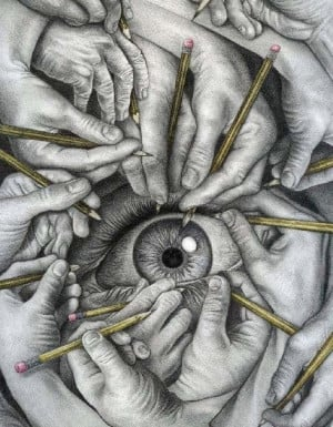 Drawing hands not eye by Ayyad007