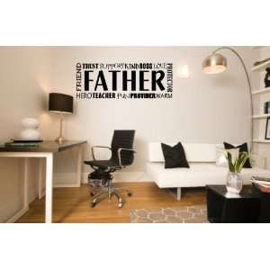Vinyl Wall Decal Father Quote selected color: Baby Blue Want