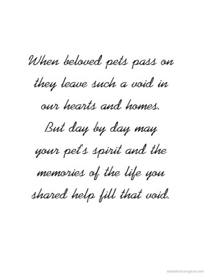 Dog Loss Quotes Sayings Pet loss sympathy expressions