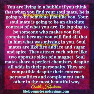 Soul Mates Are Like Fire And Ice.