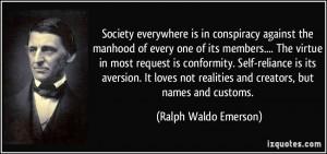 Conforming society essay