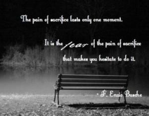 Enzio Busche -- fear of sacrifice