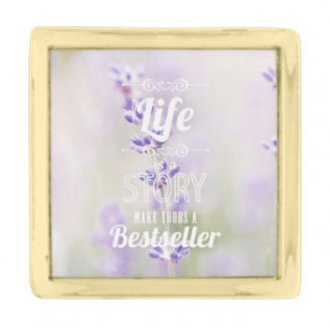 ... lavender floral flower inspirational quote gold finish lapel pin