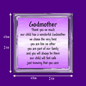 Details about GODMOTHER VERSE FRIDGE MAGNET GIFT FROM THE PARENTS