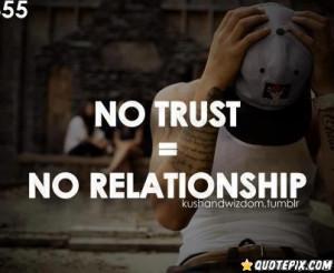 No Trust = No Relationship.