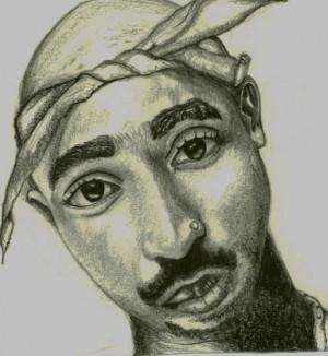 Tupac Drawing Makaveli Outlawz