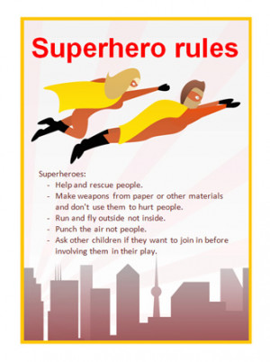 Editable Superhero Rules Poster | Free EYFS & KS1 Resources