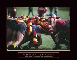 Rugby GROUP EFFORT Motivational Poster Print - Front Line Art ...