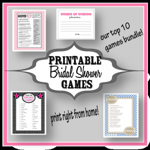 Shower Games - Print Right From Home- No more hassle about which games ...