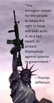 Jefferson - Right to Bear Arms quote