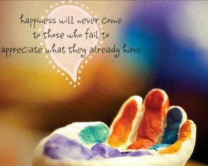 Happiness appreciation quote