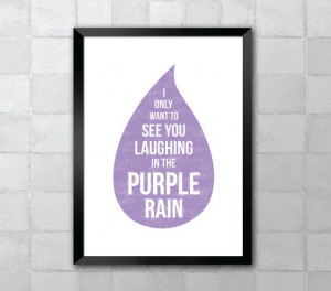 Purple Rain Prince Song Lyric Quote 8x10 Typography by LyricWall, $9 ...
