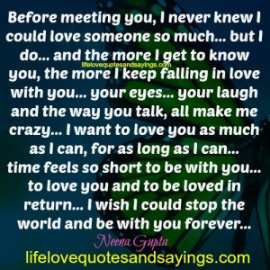 Before Meeting You..