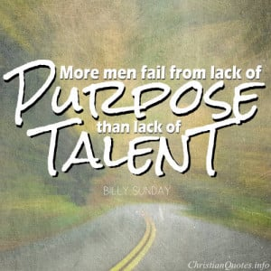 Billy Sunday Quote – Failure