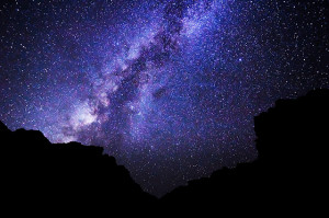 Image of the Milky Way in the Night Sky