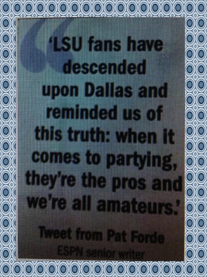 My friend posted this on Facebook. LSU's first game was against TCU in ...
