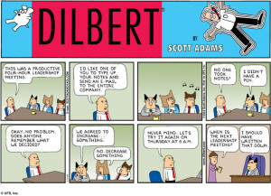 Leadership Meeting – Dilbert Style