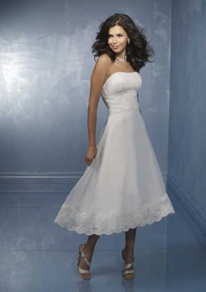 tea length casual wedding dresses