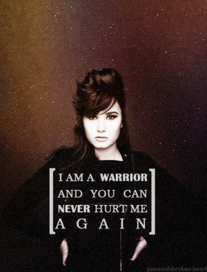 Demi Lovato song warrior !!!! Warriors Quotes, Best Songs, Life, Songs ...