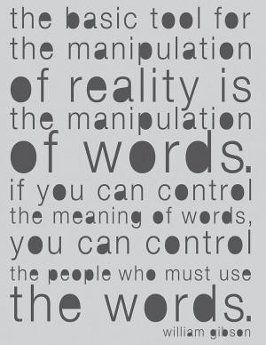 Chip Copeland › Portfolio › William Gibson Quote Poster