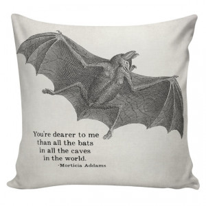 Halloween Addams Family Morticia Quote Cushion Pillow Cover cotton ...