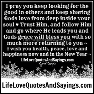 Gods love from deep inside your soul ♥ Trust Him, and follow Him ...