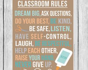 Printable Teacher Classroom Rules