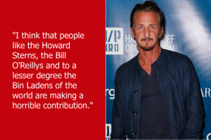 Sean Penn thinks that shock-jocks and right-wing conservatives who don ...