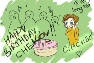 Happy Birthday Chekov Star...
