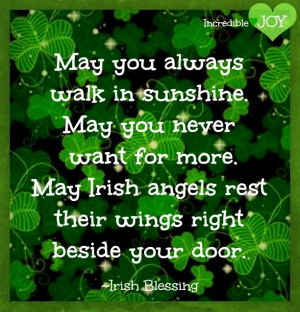 Irish st. Patrick's day blessings quote via www.Facebook.com