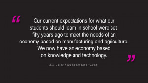 Challenging schools to treat their students as customers with a choice ...
