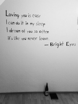 Loving you is easy I can do it in my sleep I dream of you so often it ...